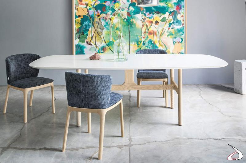Tavolo da pranzo moderno in legno stile anni 50