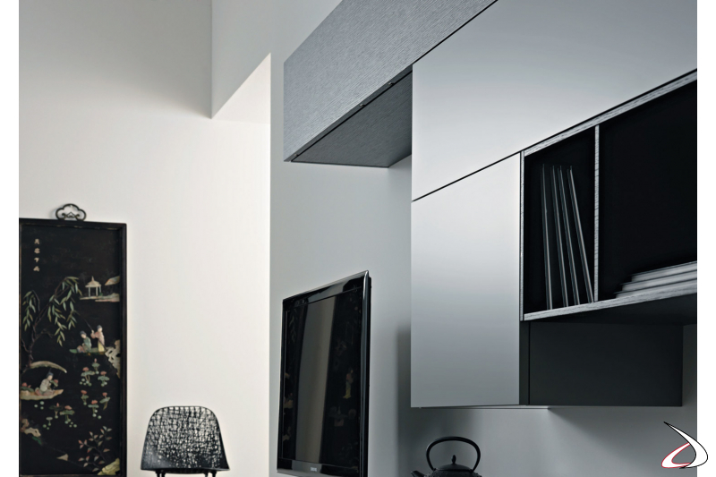 Wall cabinets with doors and wall units for a modern living room