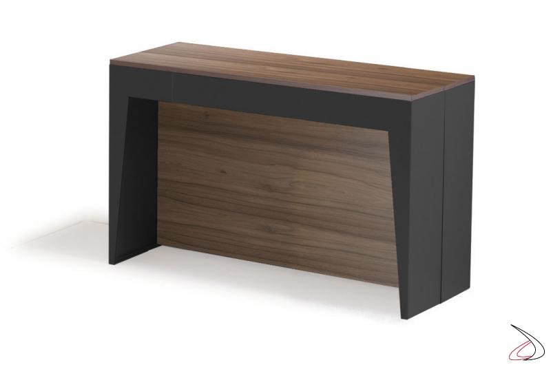 Consolle di design da ingresso allungabile in legno