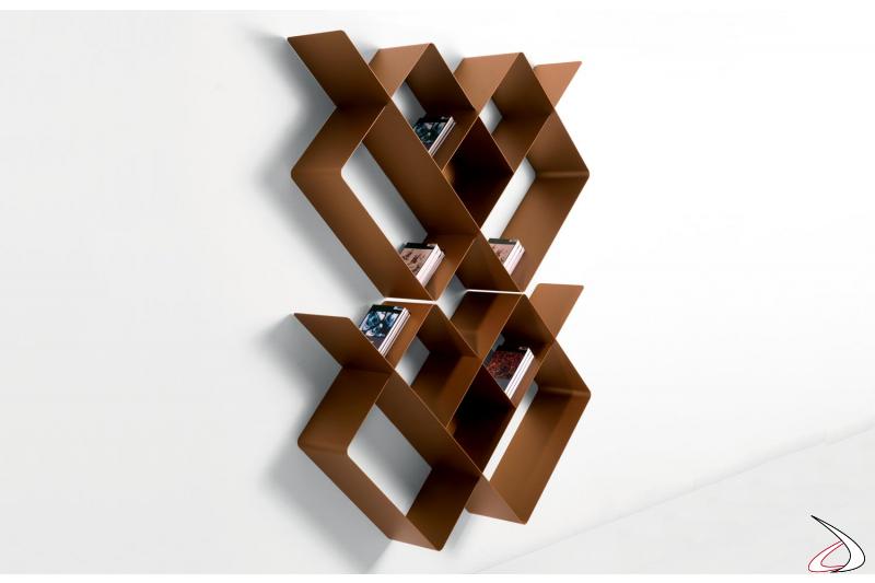 Libreria moderna componibile a muro