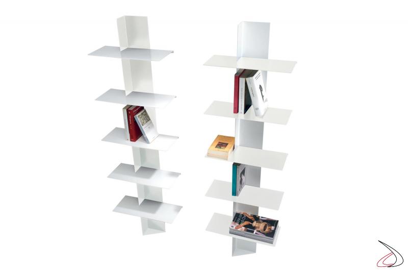 Colonna libreria bianca moderna ad albero a terra