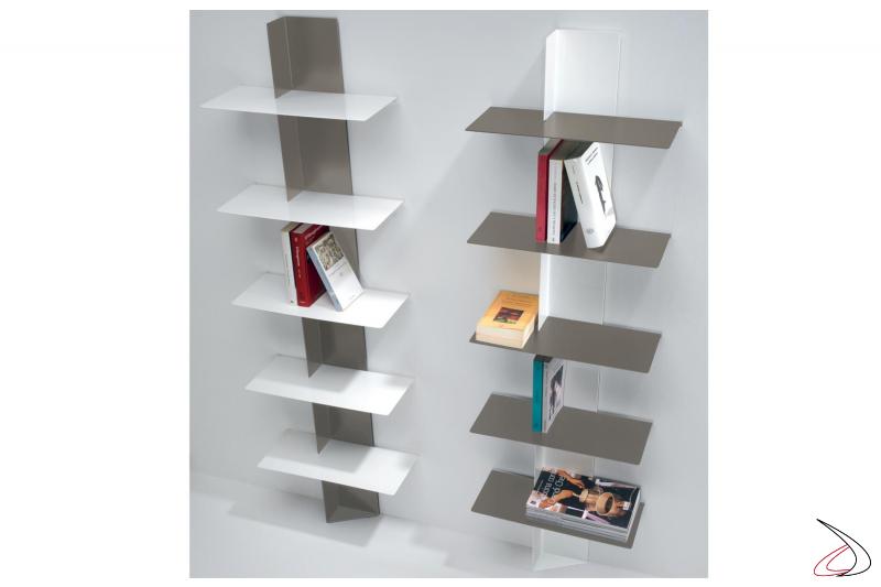 Librerie verticale di design da soggiorno colorate