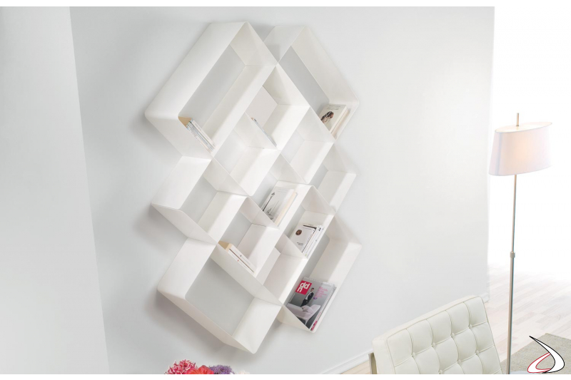 Libreria componibile da soggiorno in metallo
