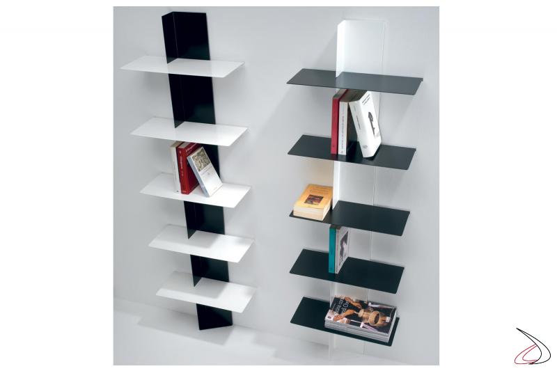 Libreria a colonna di design colorata da soggiorno a terra