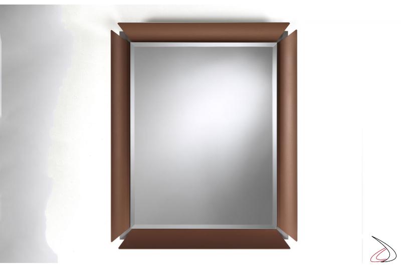 Specchiera da ingresso con cornice in alluminio