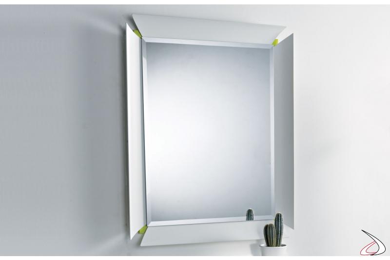 Specchio a parete di design bicolore da ingresso