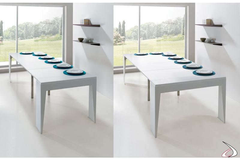 Tavolo consolle di design allungato da soggiorno