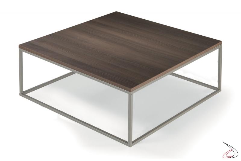 Tavolino moderno quadrato basso da caffè