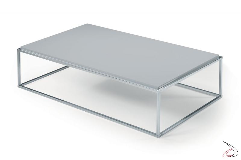 Tavolino moderno rettangolare basso da caffè