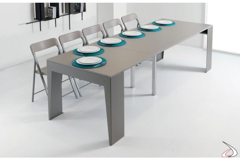 Tavolo consolle moderno allungato