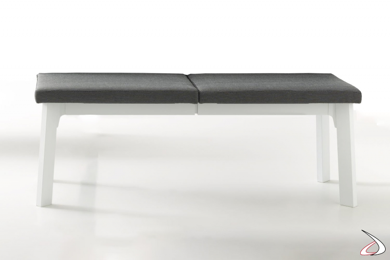 Panca moderna allungabile con seduta imbottita per tavolo da pranzo