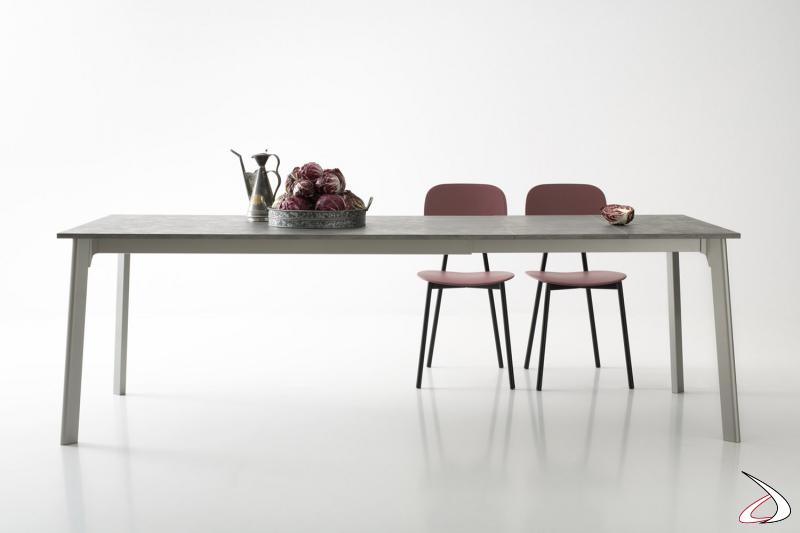 Tavolo allungabile da soggiorno con piano e prolunghe in ceramica