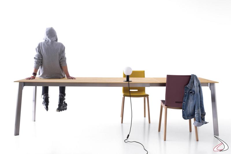 Tavolo grande allungabile moderno da soggiorno per 12 persone