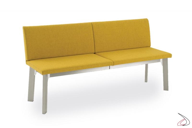 Panca allungabile moderna imbotitta con schienale alto per tavolo da pranzo