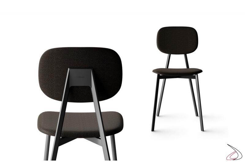 Sedia imbottita moderna da soggiorno con seduta e schienali separati