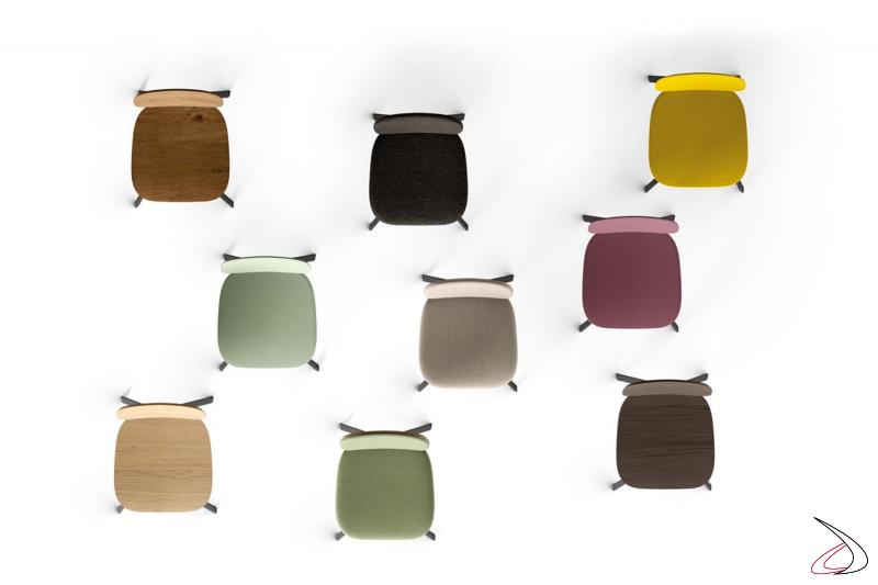 Sedie design colorate versatili da soggiorno o cucina personalizzabili