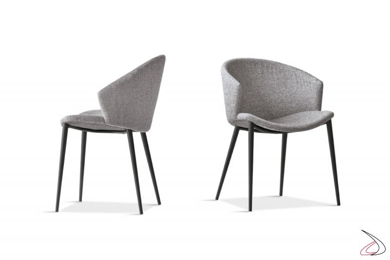Poltroncine di design comode da soggiorno con schienale imbottito avvolgente