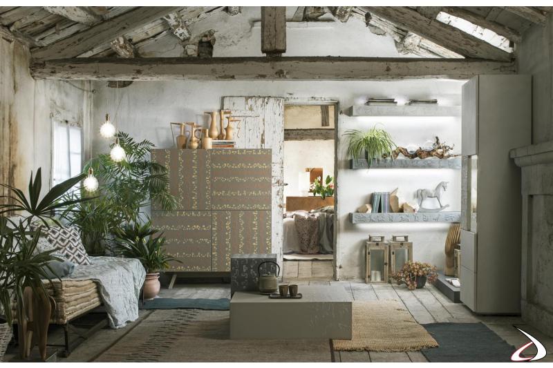Credenza di design da soggiorno a 4 ante