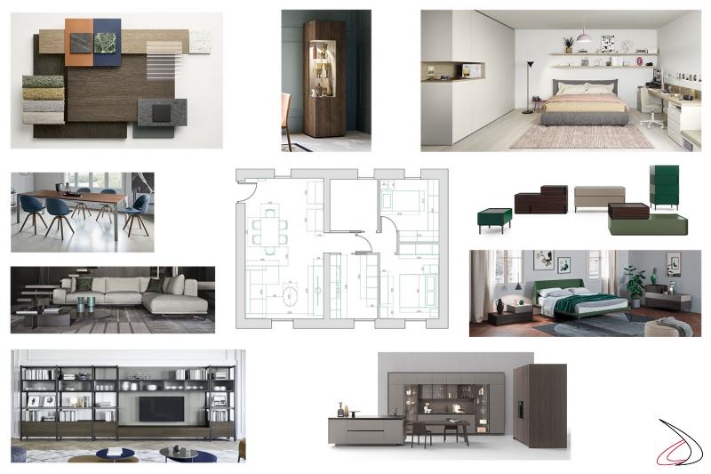 Progettazione abitazione completa restaurata con immagini rappresentative