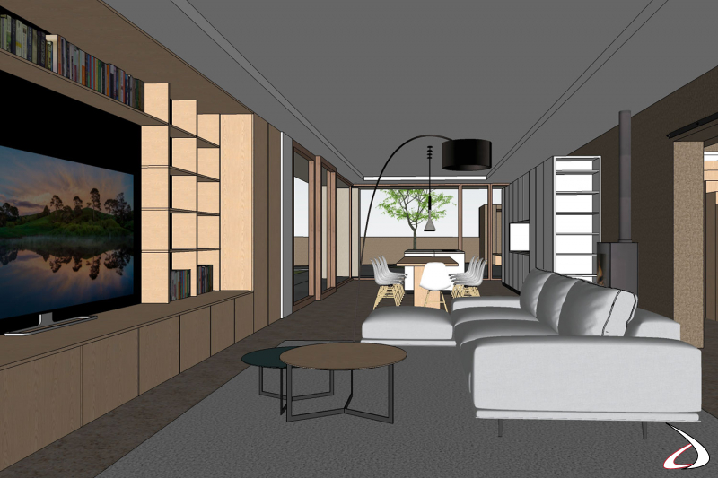Progetto render 3D open space