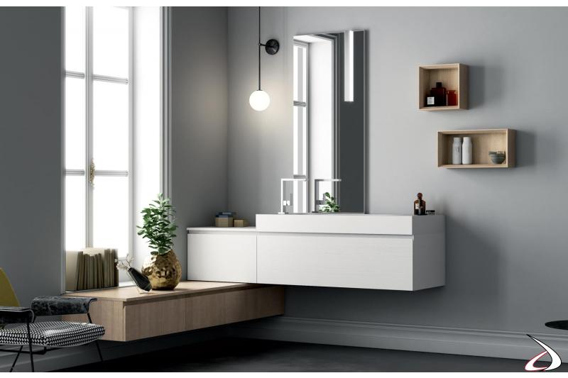 Arredo bagno moderno ad angolo