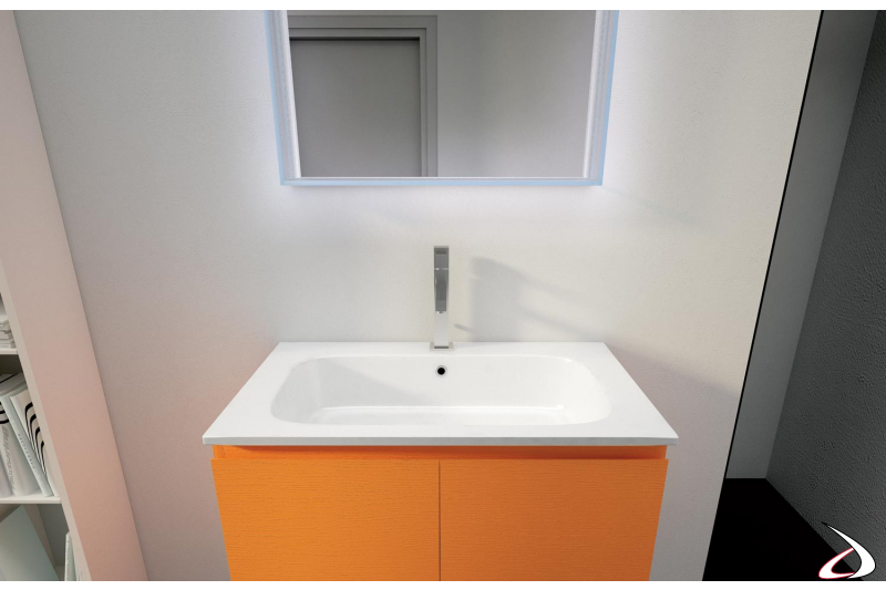 Specchiera retroilluminata a led per bagno moderno