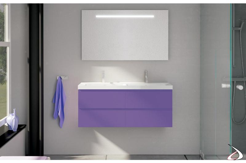 Mobile bagno con doppia vasca