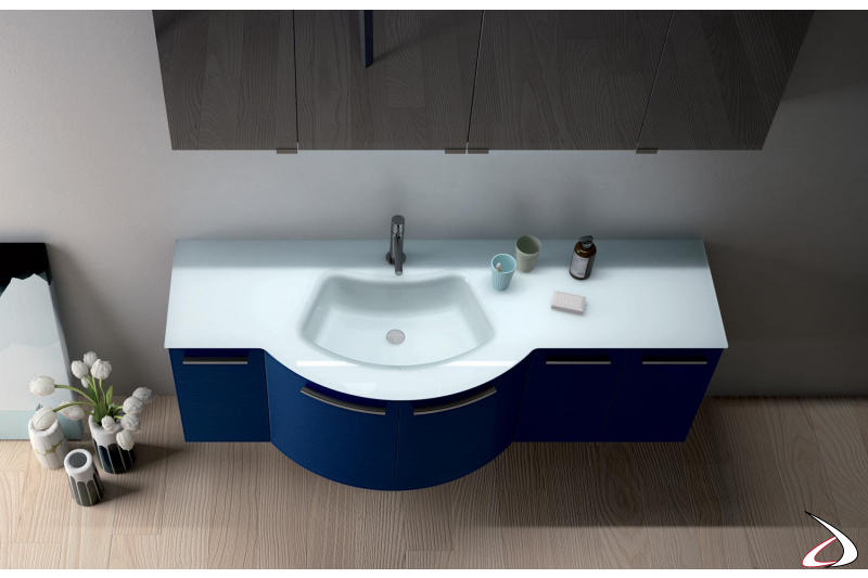 Mobile bagno di design con lavabo integrato