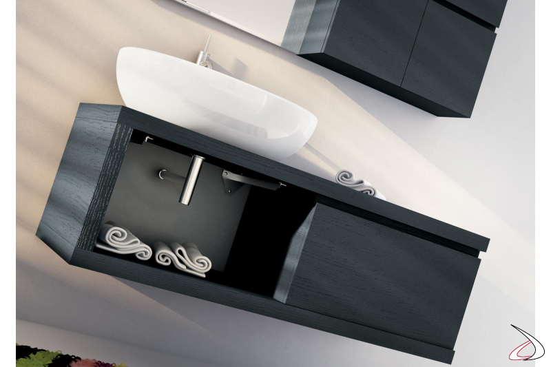 Mobile bagno moderno con lavabo soprapiano