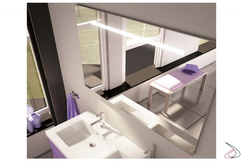 Specchiera con luce led da bagno personalizzabile nelle misure