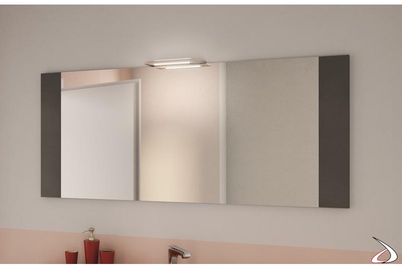 Specchio bagno personalizzabile nelle misure e nelle colorazioni della cornice