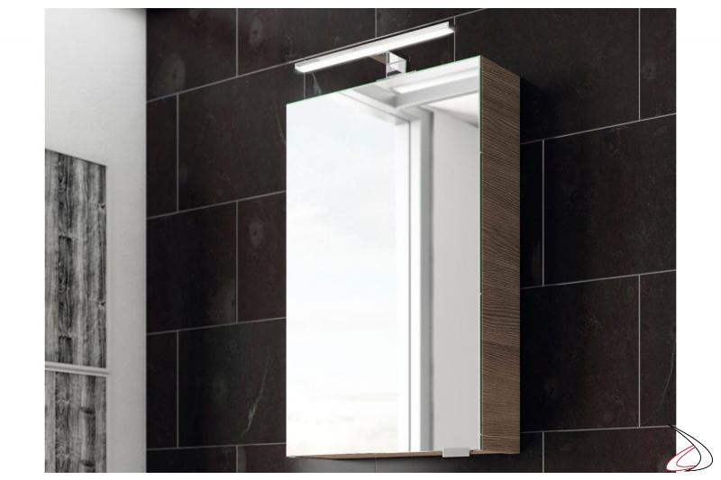 Specchiera moderna contenitore piccolo 1 anta specchio interno ed esterno da bango