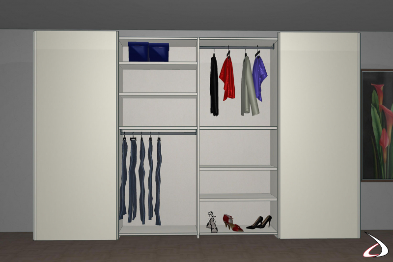 Render armadio scorrevole 3D