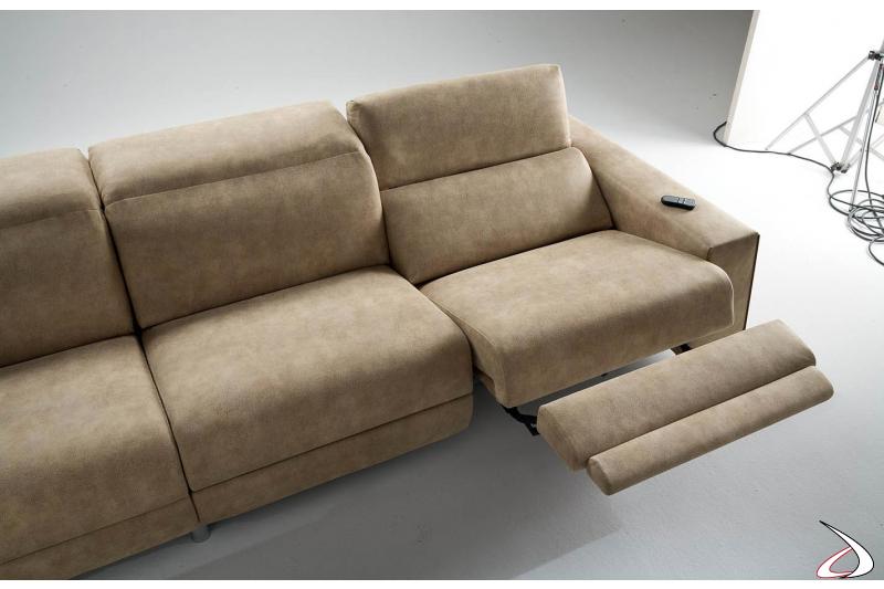 Divano recliner di design completamente sfoderabile