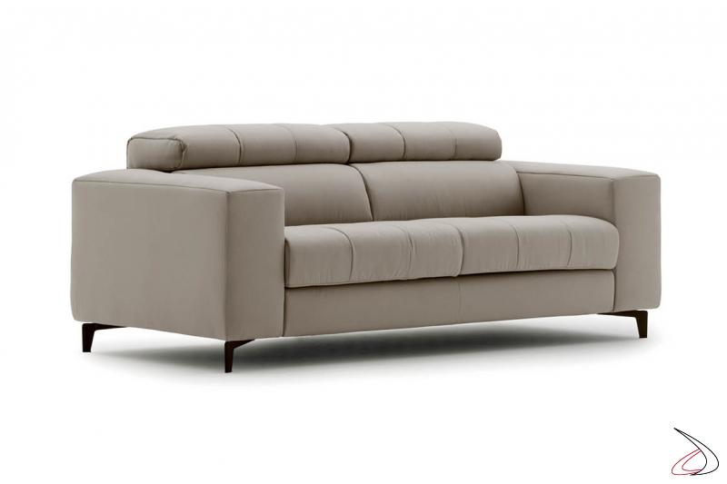 Divano moderno 2 posti con cuscini poggiareni