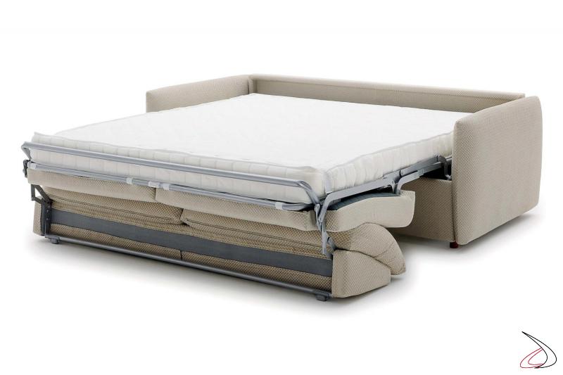 Divano letto design con materasso matrimoniale