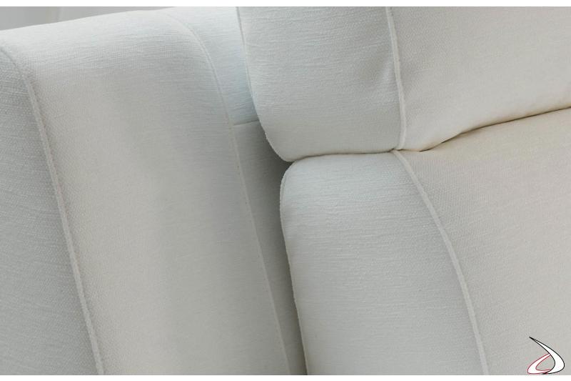 Divano con recliner made in Italy