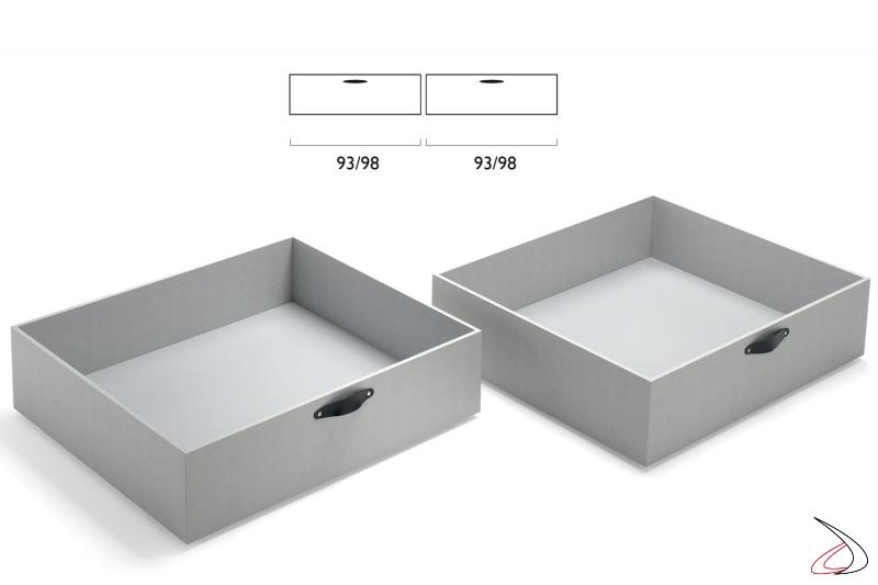 Cassettoni estraibili per letto moderno
