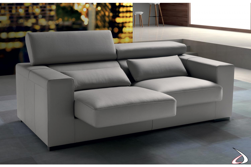Design sofa with removable seats and reclining backrests
