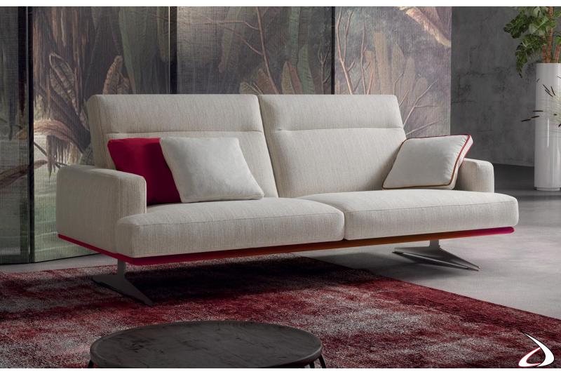 Divano moderno da salotto 2 posti con schienali reclinabili