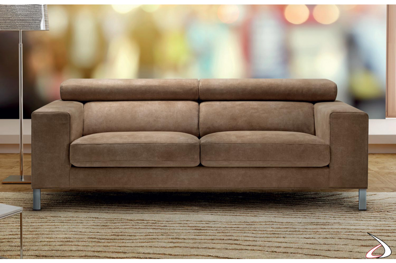 Contemporary fabric sofa with removable seats