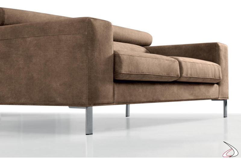 Design sofa with high metal feet