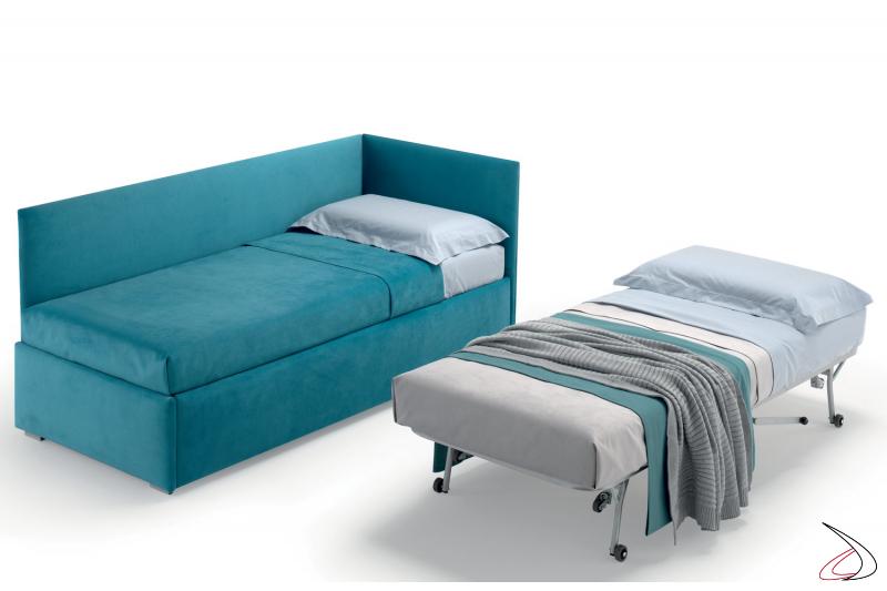 Divano letto bimbi con secondo letto estraibile