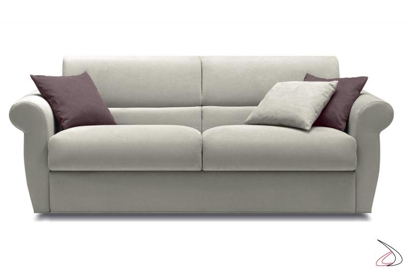 Divano trasformabile letto con braccioli classic