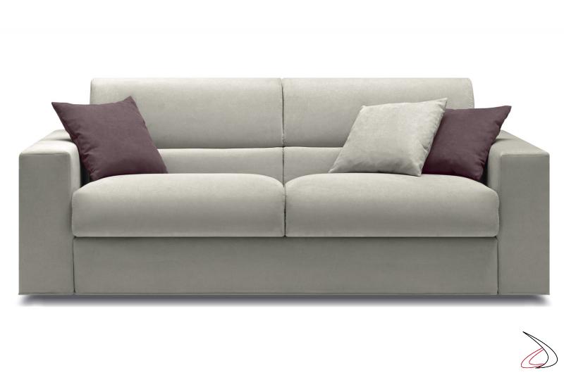 Divano moderno trasformabile letto con braccioli large