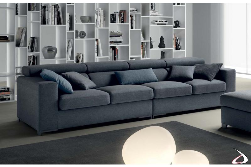 4 seats linear sofa