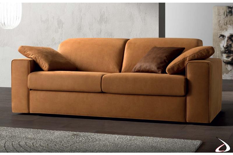 Divano moderno due posti con schienali reclinabili