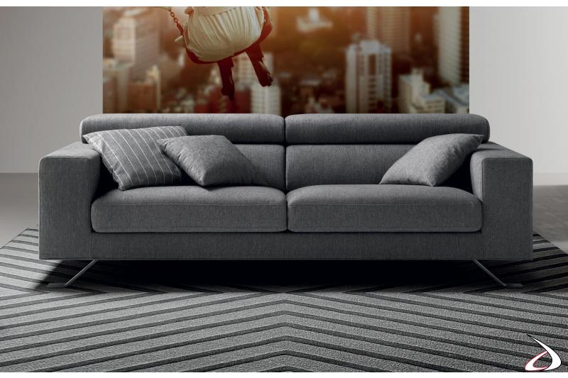 Contemporary 2 seats fabric sofa