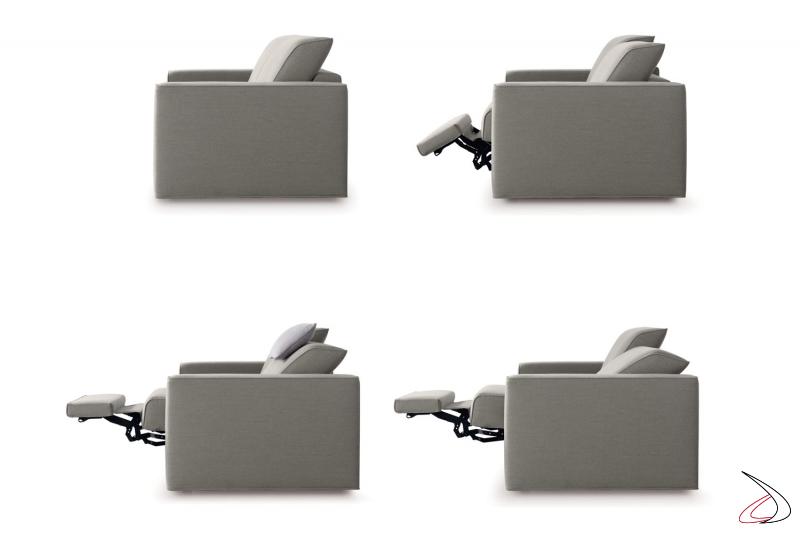 Divano reclinabile con meccanismo relax automatico