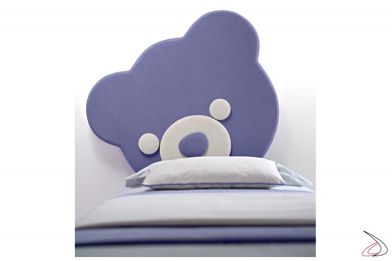 Testiera letto bambini a forma di orsetto
